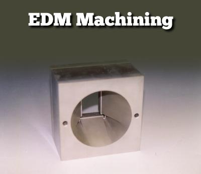 EDM machining sample tapered cut