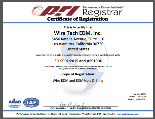 AS91000 Certification
